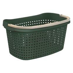 Καλάθι Ρούχων και Κήπου 60x40x27cm Πλαστικό 40lt με Χειρολαβή Πράσινο Σκούρο BAMA Ιταλίας