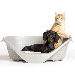Κρεβάτι Σκύλου-Γάτας 110x77.5x36.5cm RATTAN με Σύστημα Αερισμού Γκρι BAMA Ιταλίας