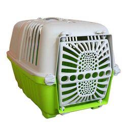 Κλουβί Μεταφοράς Κατοικιδίου 47x29x31cm με Χειρολαβή και Γάντζους για Υποδοχή Ιμάντα Πράσινο-Γκρί ARTPLAST Ιταλίας
