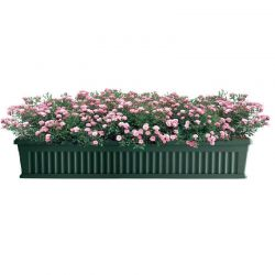 BAMA ITALY Ζαρντινιέρα Κήπου/Μπαλκονιού 100x18.5x16.5cm 18.5lt με Πιάτο Πράσινο Σκούρο