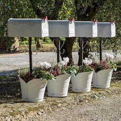 Γλάστρα Κρεμαστή για Κολώνες 35x39x30cm Πλαστική 10lt Λευκή TULIPANO BAMA Ιταλίας