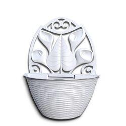 Γλάστρα Ημικυκλική Τοίχου 32x16x42.5cm Πλαστική Λευκή 3.4lt BAMA Ιταλίας