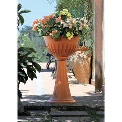 Ανθοστήλη Ø43x74.5cm Πλαστική 20lt Κεραμιδί ALBA COLUMN BAMA Ιταλίας