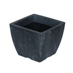 Κασπώ 2lt Τετράγωνο 15x15x12.5cm Γυαλιστερό με Εφέ Μαρμάρου Μολυβί NATURA MARBLE Ελλάδας