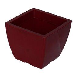 Κασπώ 2lt Τετράγωνο 15x15x12.5cm Γυαλιστερό Μπορντό GLOSS Ελλάδας