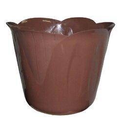 BAMA Κασπώ Πλαστικό Ø15x12cm 1lt με Σχέδιο σε 3 Μεγέθη Σοκολατί MIMOSA POT Ιταλίας