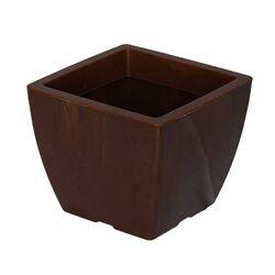 Κασπώ 2lt Τετράγωνο 15x15x12.5cm Γυαλιστερό με Εφέ Μαρμάρου Καφέ NATURA MARBLE Ελλάδας