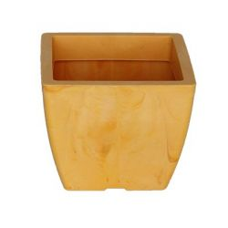 Κασπώ 2lt Τετράγωνο 15x15x12.5cm Γυαλιστερό με Εφέ Μαρμάρου  Κροκί NATURA MARBLE Ελλάδας