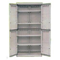Πλαστική Ντουλάπα 18kg 82,5x43x177cm SUPER HEAVY 2φυλλη 5 Χώρων JOHNSON