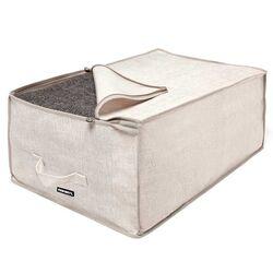 ORDINETT ITALY Κουτί Αποθήκευσης Ρούχων 40x60x25cm Πολυεστέρας 60lt 0.29kg BLANKET 2 LINETTE Μπεζ