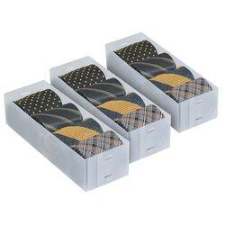 ORDINETT ITALY Κουτί Αποθήκευσης 0.18kg 30.5x10.5x7.5cm από Πολυπροπυλένιο ΣΕΤ 3 Τεμαχίων TOP CLASS WHITE SET 3 DIVIDERS Διάφανο