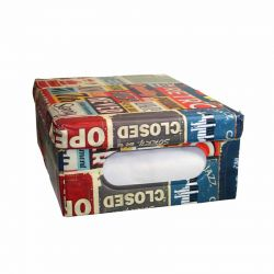 ORDINETT ITALY Κουτί Αποθήκευσης Ρούχων 50x40x25cm 50lt 100% PEVA 0.90kg BOX LARGE PUB
