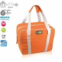 GIOSTYLE ITALY Ισοθερμική Τσάντα 38x16x30cm Πάχος 6mm 23lt Πολυεστέρας 300D MAX Απόδοση 13 Ώρες Πιστοποιήσεις Azo FREE/REACH EVO MEDIUM Πορτοκαλί