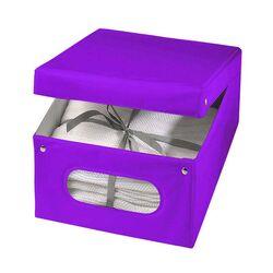 ORDINETT ITALY Κουτί Αποθήκευσης Ρούχων 50x40x25cm 100%PEVA 50lt 0.80kg FASHION BOX LARGE Μωβ