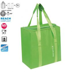 GIOSTYLE ITALY Ισοθερμική Τσάντα 32.5x21x34.5cm Πάχος 5mm 25lt Πολυεστέρας 70D MAX Απόδοση 11 Ώρες Πιστοποιήσεις Azo FREE/REACH FIESTA VERTICAL Πράσινο
