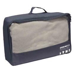 ORDINETT ITALY Τσάντα Ταξιδιών 40x30x15cm Πολυεστέρας 18lt με Φερμουάρ J-BAG TRAVEL Σκούρο Γκρι