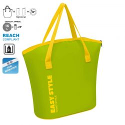 GIOSTYLE ITALY Ισοθερμική Τσάντα 41.5x17.5x38.5cm Πάχος 4mm 16lt Πολυεστέρας 70D MAX Απόδοση 10 Ώρες Πιστοποίηση REACH S-BAG Πράσινο-Κίτρινο
