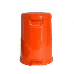 Κάδος Μπάνιου Πεντάλ 10lt Φ24.3x33.5cm Εσωτερικό Κάδο Φ20x26.5cm 6lt Πλαστικό ABS Πορτοκαλί ΒΕΡΓΙΝΑ BEGA PLAST Ελλάδας