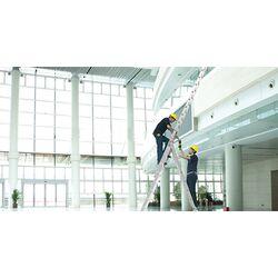 Σκάλα Αλουμινίου 3x12 Σκαλιά Επαγγελματική 8.14m Αναπτυσσόμενη Τριπλή με Βάση Στηρίγματος 20.2kg Αντοχή 150kg SN7312