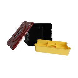 Εργαλειοθήκη 40x30x22cm 1.15kg Πλαστική Μαύρο-Κόκκινο