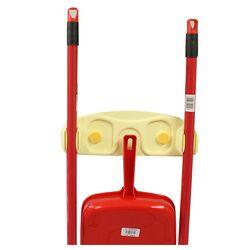Κρεμάστρα Σκούπας Τοίχου με Γάντζο για Φαράσι Πλαστική 30x10x4.5cm με Ταινία Στήριξης ή Βίδες Κίτρινη BAMA Ιταλίας