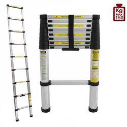 Τηλεσκοπική Σκάλα 2.58m Αλουμινίου με 9 Σκαλιά Βάρος 7.4kg MAX Αντοχή 150kg LS1108