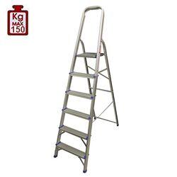 Σκάλα Αλουμινίου 5+1 Σκαλιά 48.5x116x181cm Αντοχή 150kg Βάρος 4.79kg