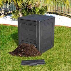 TOOMAX FASHION ITALY 260lt Κομποστοποιητής-Κάδος Κομποστοποίησης Πλαστικός Κήπου 60x60x73cm Μαύρος COMPOSTER