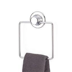 Πετσετοθήκη Μπάνιου Τετράγωνη 16x4x16cm Πάχος Ø7mm Αντοχή 12kg Επιχρωμιωμένο Ατσάλι με Βεντούζα EXTRA STRONG