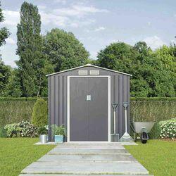 Μεταλλική Αποθήκη Κήπου - Σπιτάκι Κήπου 201x121x190 (6.6'x4') 4.62m³ Γαλβανιζέ Polis Γκρι LILYSHED