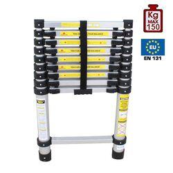 ΤΤηλεσκοπική Σκάλα 2.9m Αλουμινίου με 10 Σκαλιά Βάρος 7kg MAX Αντοχή 150kg LS1009