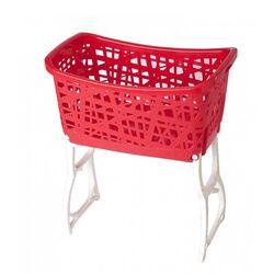 Καλάθι Ρούχων με Πόδια 60.5x39.5x68.5cm 44lt Κόκκινο-Λευκό BAMA Ιταλίας