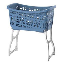 Καλάθι Ρούχων με Πόδια 60.5x39.5x68.5cm 44lt Μπλε-Λευκό BAMA Ιταλίας