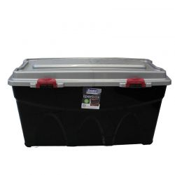 BAMA ITALY Κουτί Αποθήκευσης 80x40x45cm 85lt Πλαστικό με Κλιπς και 4 Ρόδες Μαύρο-Ασημί IPERBOX