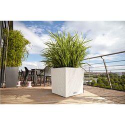 LECHUZA Cube Cottage 30 Γλάστρα 29.5x29.5x30cm Αυτοποτιζόμενη με Δοχείο Φύτευσης Λευκή Γερμανίας