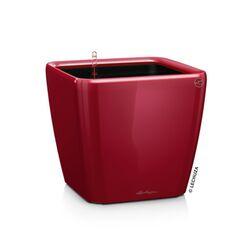 LECHUZA QUADRO 35 LS Premium Επιτραπέζια Γλάστρα 35.5x35.5x32.5cm ΑΥΤΟΠΟΤΙΖΟΜΕΝΗ με Δοχείο Φύτευσης Μπορντό Γυαλιστερή Γερμανίας
