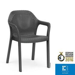 LECHUZA Στοιβαζόμενη Καρέκλα 58x57x84cm Βάρος 6kg Ανθρακί Rattan Γερμανίας German design winner award 2016/pro-k awards winner 2016