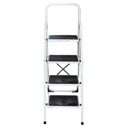 Σκαλοσκαμπό Μεταλλικό 47x77x135cm με 4 Σκαλιά MAX Αντοχή 150kg Βάρος 8.5kg PLUS Λευκό LY304