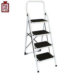 Σκαλοσκαμπό Μεταλλικό 47x77x135cm με 4 Σκαλιά MAX Αντοχή 150kg Βάρος 8.5kg PLUS Λευκό LY304Σκαλοσκαμπό Μεταλλικό 47x77x135cm με 4 Σκαλιά MAX Αντοχή 150kg Βάρος 8.5kg PLUS Λευκό LY304