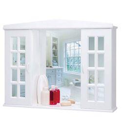 Πλαστικό Ερμάριο/Ντουλάπι Έπιπλο Μπάνιου 86x16.5x65cm με Καθρέπτη 4 Ράφια-6 Αποθηκευτικοί Χώροι 7.8kg Λευκό