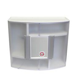 Ερμάριο Μπάνιου με Καθρέπτη 360ᵒ  38.5x17x33cm 2 Πόρτες-5 Αποθηκευτικοί Χώροι Βάρος 1.97kg Διάφανο-Λευκό