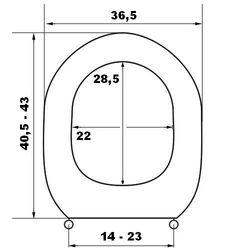 Κάλυμμα Λεκάνης με Σχέδιο ΕΡΜΗΣ 44.5x36.5cm Λευκό