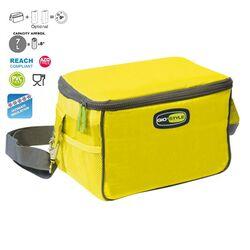 GIOSTYLE ITALY Ισοθερμική Τσάντα 26x17x16cm Πάχος 10mm 7lt Πολυεστέρας 420D MAX Απόδοση 9 Ώρες Πιστοποιήσεις Azo FREE/REACH TRAVEL LUNCH VELA Κίτρινο
