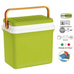 GIOSTYLE ITALY Φορητό Ψυγείο-Θερμός 22.5lt 38x25x38cm 2.68kg FIESTA25 Λαχανί-Πορτοκαλί