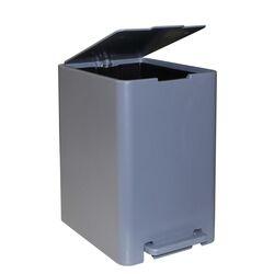Κάδος Μπάνιου με Πεντάλ 13.5lt 18.5x25x29cm με Εσωτερικό Κάδο 7lt 0.82kg Πλαστικό SOFT CLOSE Γκρι Τιτανίου Ελλάδας