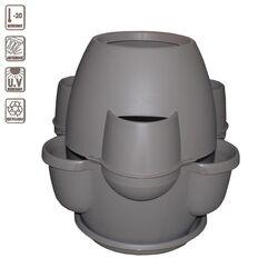 BAMA ITALY Γλάστρα Σύνθεσης XL Ø80x80cm 200lt Πλαστική 8.2kg Oasi Γκρί Καφέ