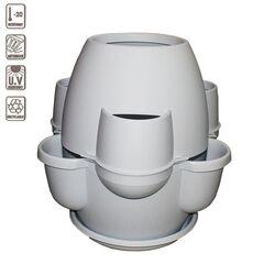 BAMA ITALY Γλάστρα Σύνθεσης XL Ø80x80cm 200lt Πλαστική 8.2kg Oasi Λευκό του Πάγου