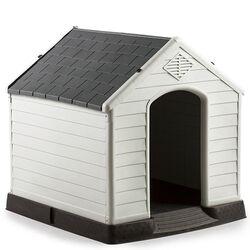 Σπίτι Σκύλου XLARGE 97x101x99cm 15.6kg Λευκό Πάγου-Γκρί VESTA