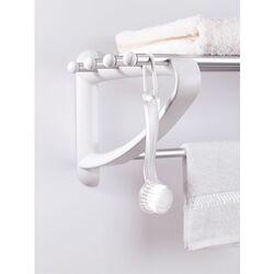 Ραφιέρα Μπάνιου για Πετσέτες 50x29.5x20cm Αλουμίνιο-Πλαστικό 0.58kg Λευκή