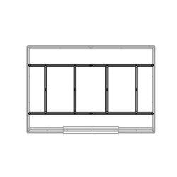 Βάση-Πλαίσιο Δαπέδου Μεταλλικό για την Αποθήκη-Σπιτάκι Κήπου 453.1001C
